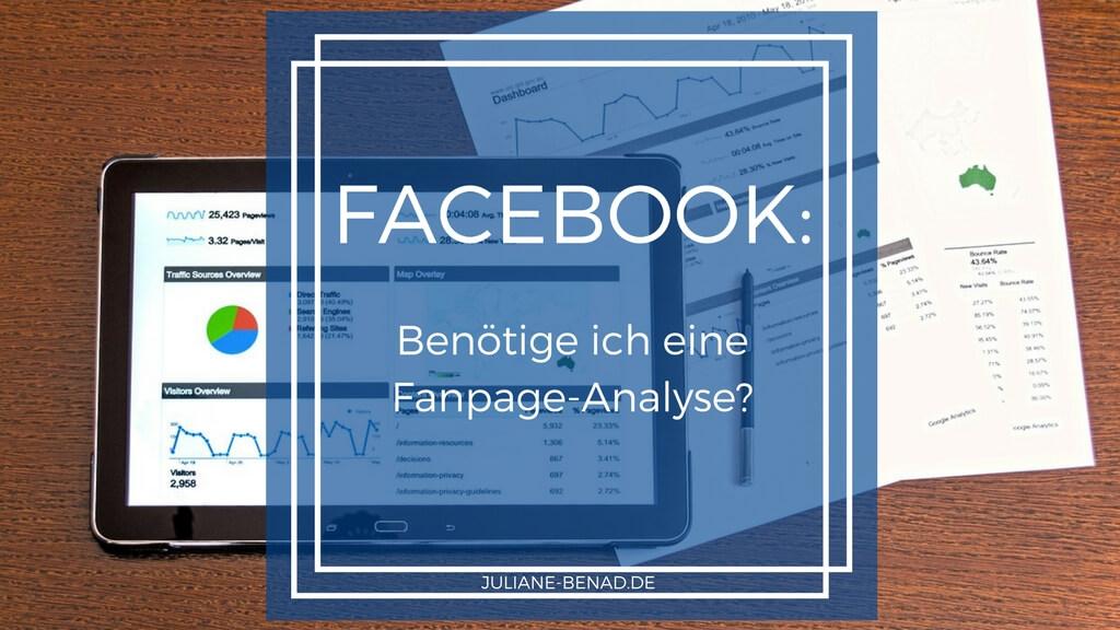 Brauche ich eine Facebook-Fanpage-Analyse?