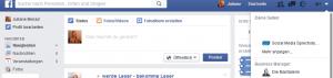 Facebook-Seitenfeed - vom Profil zur Seite sechseln