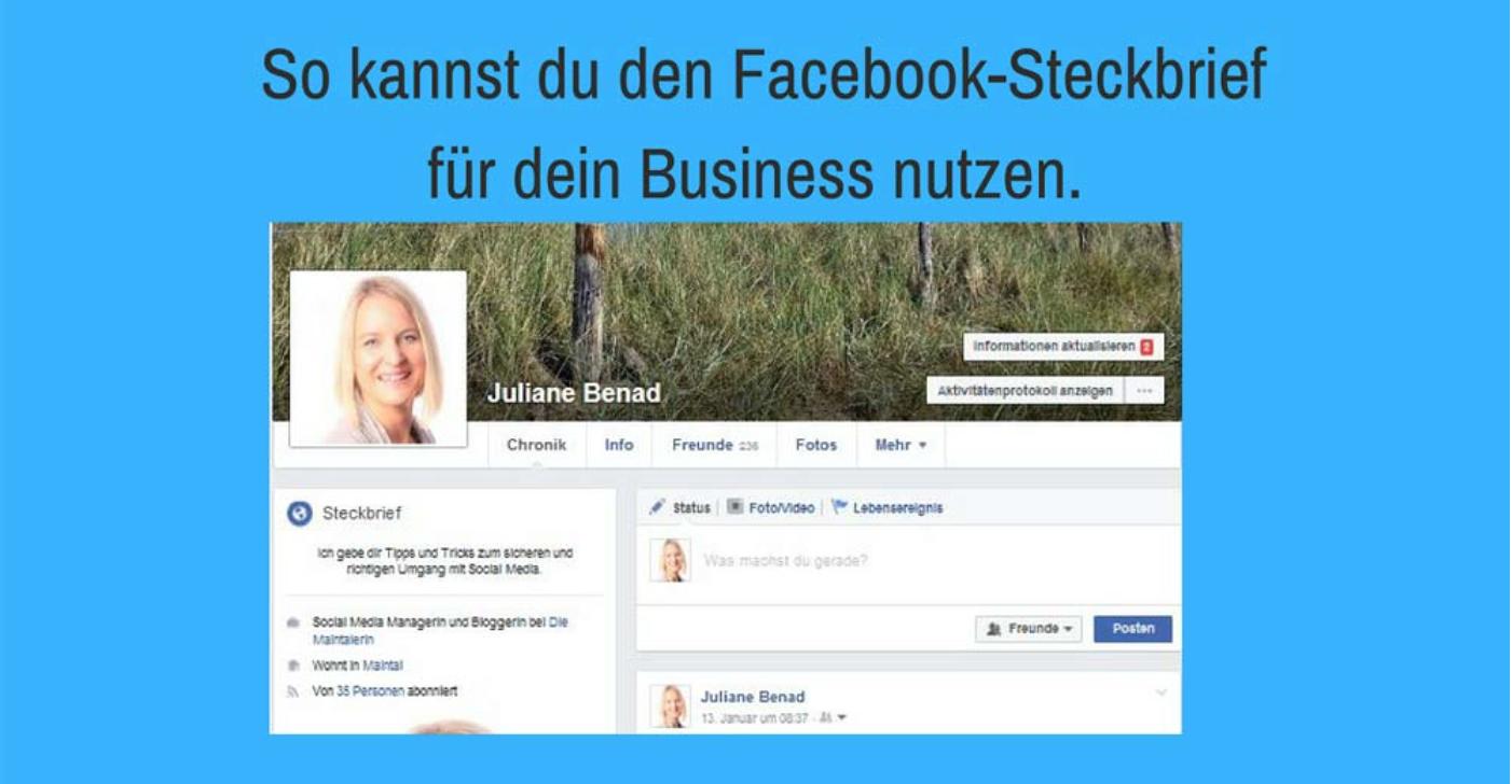 Facebook Steckbrief