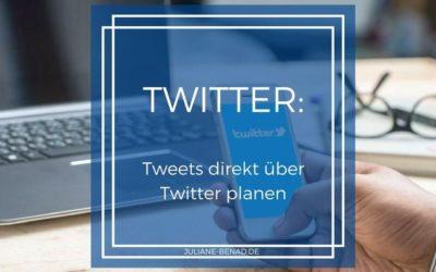 Twitter: So planst du Tweets direkt über Twitter