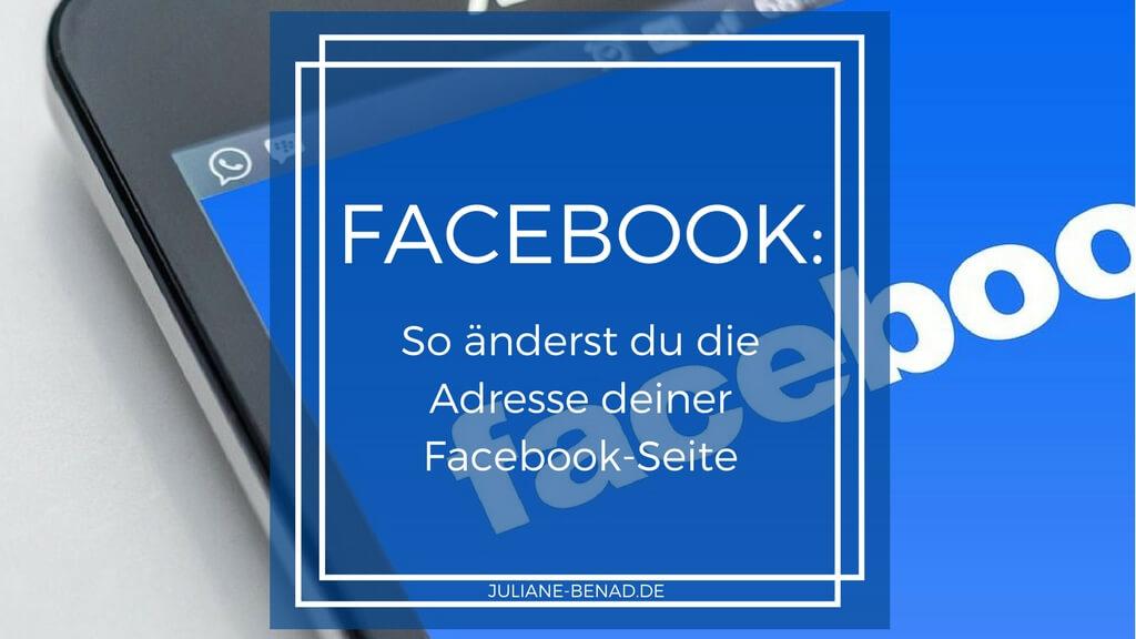 So änderst du die URL deiner Facebook-Seite