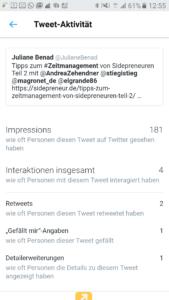 Tweet Analytics Details